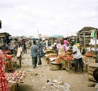 Ghana Market between Accra and Cape Coast. By hiyori13 - Wikimedia Commons.
